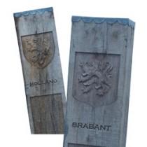 De grens tussen Holland en Brabant liep vroeger dwars door de huidige provincie Noord-Brabant. De grens werd met palen gemarkeerd.